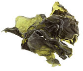 Dried seaweed kelp Isolated on white — Stock Photo