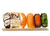 Japanse sushi eten geïsoleerd — Stockfoto