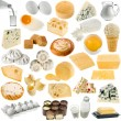 Collection of dairy produce — Stock Photo