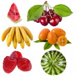 Fruits and berries isolated - Stock Photo