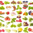 Collection of fresh juicy fruits, vegetables and berries - Stock Photo