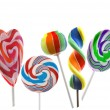 Colorful lollipops isolated on a white background - Stock Photo