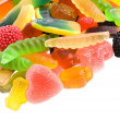 an assortment of colorful jelly candy — Stock Photo