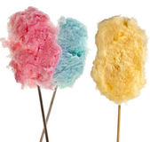 Cotton sweet candy isolated on white — Stock Photo