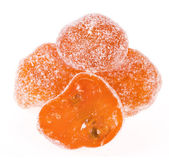 Dried kumquat isolated — Stock Photo