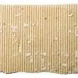 Scrap of corrugated cardboard sheet - Stock Photo