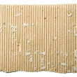 Scrap of corrugated cardboard sheet — Stock Photo