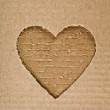 Cardboard heart background - Stok fotoğraf