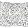 Stock Photo: Sheet of crumpled paper Isolated on white background