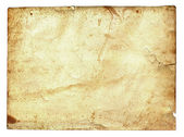 Old paper grunge isolated on white background — Foto Stock