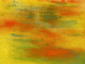 Abstract watercolor hand painted on canvas background — Stock Photo