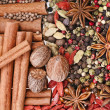 Spices background — Stock Photo