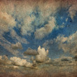 Vintage of cloudy sky — Stock Photo