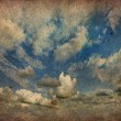 Vintage of cloudy sky - Stock Photo