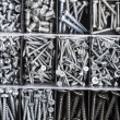 Toolbox, Box for metal bolt, nut, screw, nail — Stock Photo #14868223