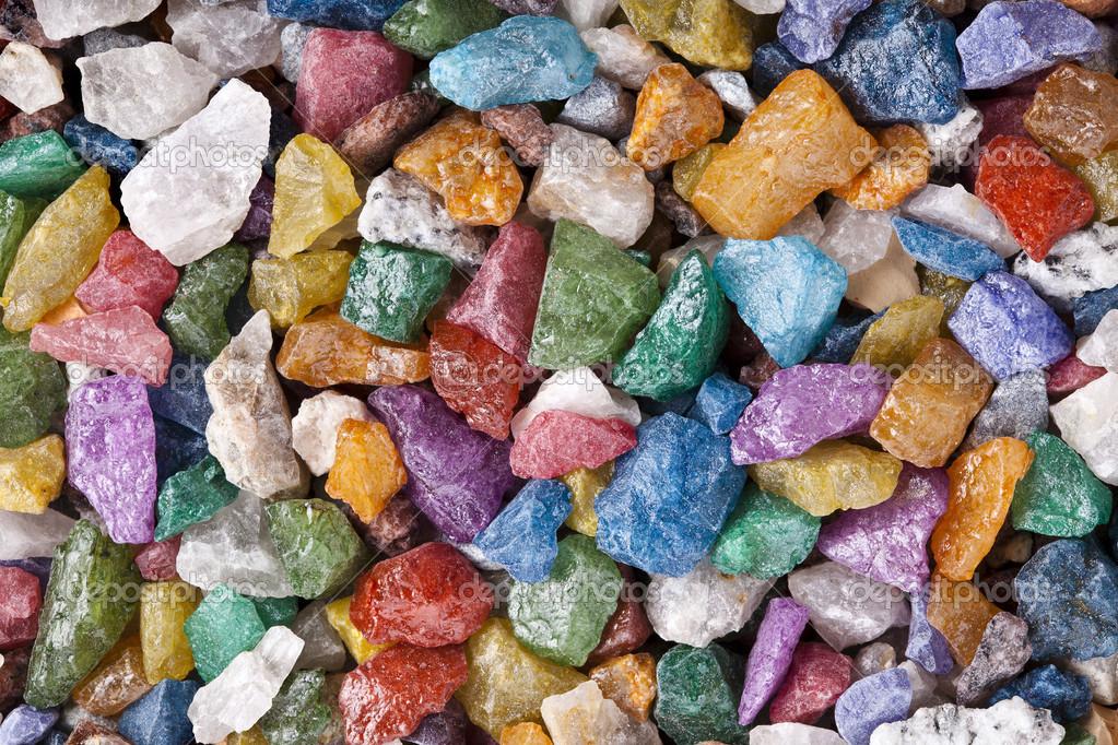 Piedras colores brillantes fotos de stock 14868271 for Colores de piedras para mesadas