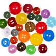Many colorful buttons background — Stock Photo