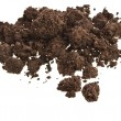 Stock Photo: Pile of soil isolated on white
