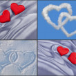 Beautiful Background with hearts - Lizenzfreies Foto