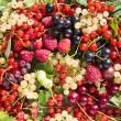 Background of fresh berries — Stock Photo