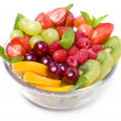 Fresh ripe berries and fruits — Stock Photo