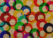 Colorfull rings vintage textured background — Stock Photo