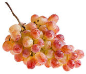 Pink grape isolated on white — Stock Photo