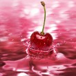 Stock Photo: Cherry drink