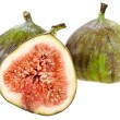 Fresh figs isolated on white background — Stock Photo