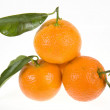 Mandarine (tangerine) on a white background - Stock Photo