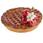 Cherry cake pie isolated on white background — Stock Photo