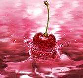 Cherry drink — Stock Photo