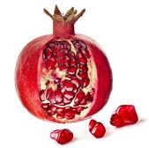 Pomegranate fruit on a white background — Stock Photo