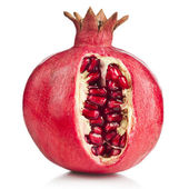 Pomegranate fruit on a white background — Stock Photo