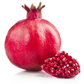 Pomegranate fruit isolated on white background — Stock Photo