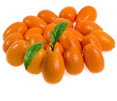 Fresh Sweet Kumquat isolated on white — Stock Photo