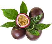 Passion fruit on a white background — Stock Photo