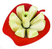 Apple with cutter — Stock Photo