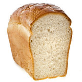 Wheat bread isolated on a white background — Stock Photo