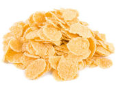 Cornflakes, isolated on a white background — Stock Photo