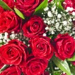 Stock Photo: Red roses bouquet background