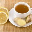Ginger tea with lemon — Stock Photo