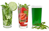 Refreshments drinks over white background — Stock Photo