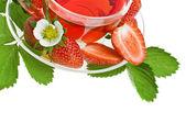 Strawberry tea isolated — Stock Photo
