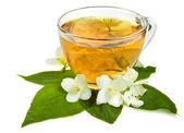Jasmine tea isolated on a white — Stock Photo