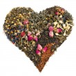 Tea heart of different tea — Stock Photo #15886133