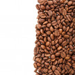 Coffee beans on the white — Stock Photo