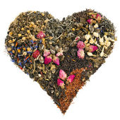 Tea heart of different tea — Stock Photo