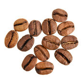 Coffee beans on the white — Photo