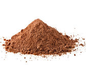 Cocoa powder isolated — Stock Photo
